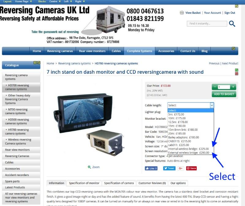 Wireless reversing Camera systems - Reversing Cameras UK