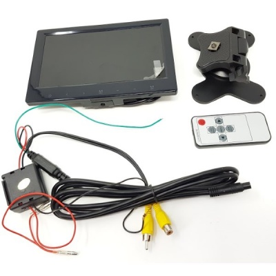 7 inch rear view monitor with RCA connectors 12V