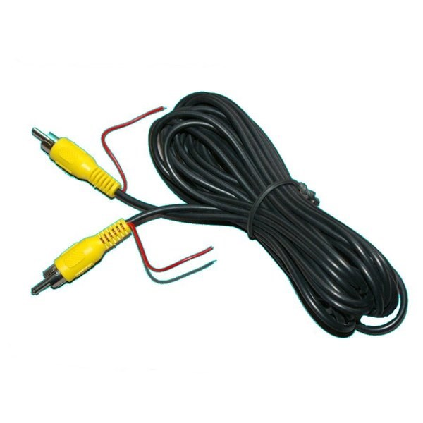 Reverse Trigger Wire For Backup Camera: 5m RCA Cable With Trigger Wire