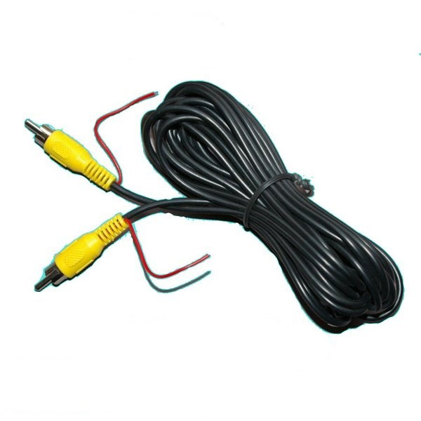 Reverse Trigger Wire For Backup Camera: 15m RCA Cable With Trigger Wire