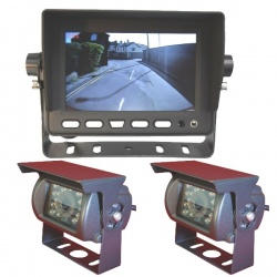 Heavy duty 5 inch CCD reversing camera system with 2 cameras