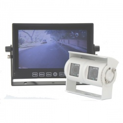 7 inch stand on dash monitor and twin lens reversing camera
