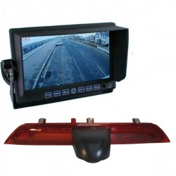 Stand on dash monitor and CCD Ford Transit brake light reversing camera