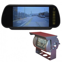 7 inch mirror monitor reversing system with CCD reversing camera