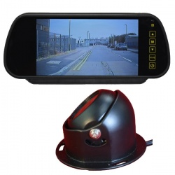7 inch mirror monitor monitor and CCD dome reversing camera