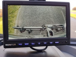 AHD stand on dash monitor and twin lens camera