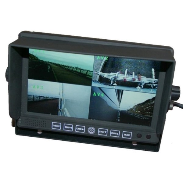 Quad screen rear view monitors