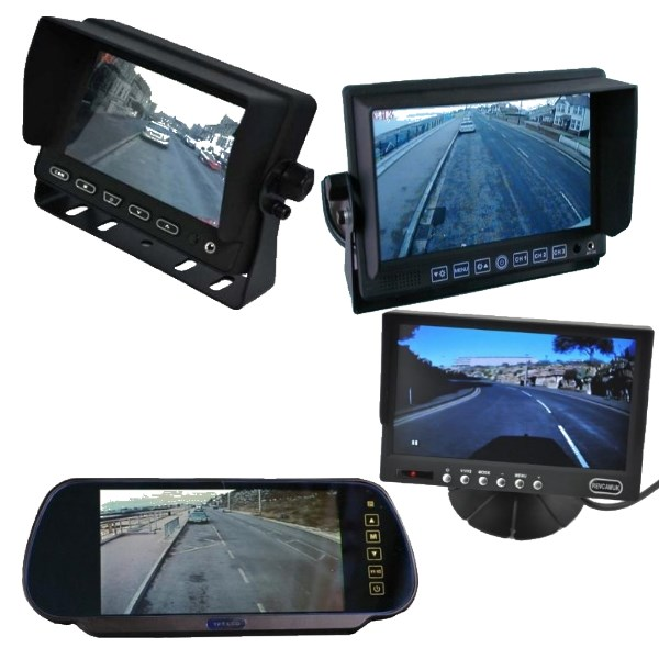 Single screen rear view monitors