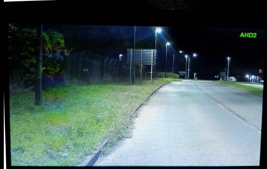 AHD camera at night with street lighting