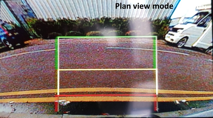Reversing camera plan view