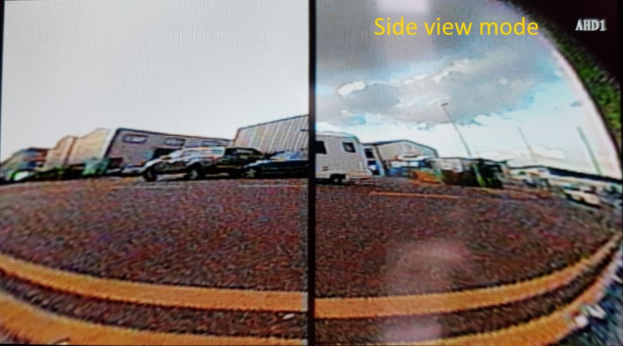 Reversing camera side view