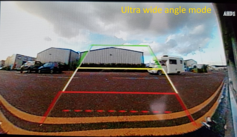 Reversing camera in ultra wide angled mode