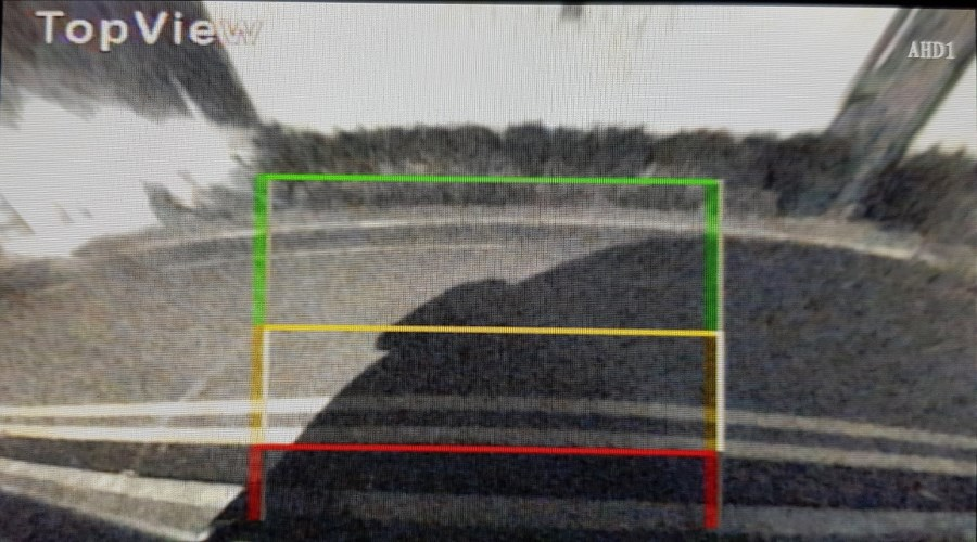 Reversing camera plan view at night
