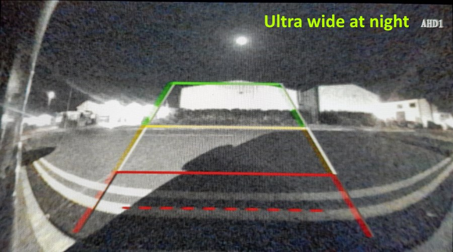 reversing camera at night ultra wide angle