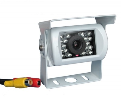 CCD bracket camera with RCA connectors