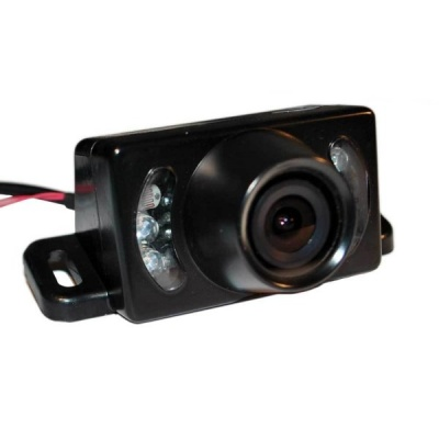 Wedge shaped CMOS reversing camera with mirror normal trigger