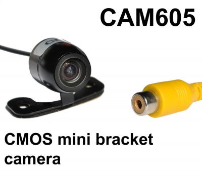 CMOS mini bracket reversing camera with mirror normal trigger