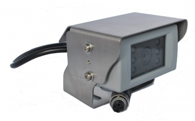 Bracket CCD reversing camera polished stainless steel bracket