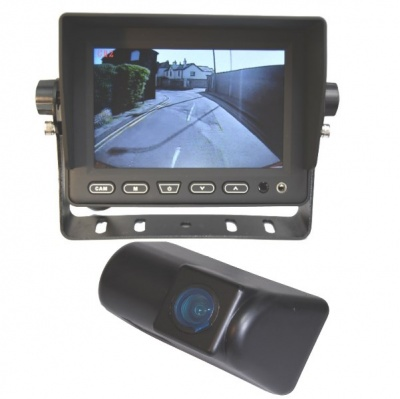 5 inch stand on dash monitor and Ford Transit CMOS number plate light camera