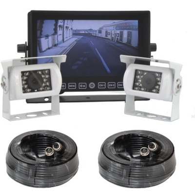 Heavy duty CCD reversing camera system with 2 cameras