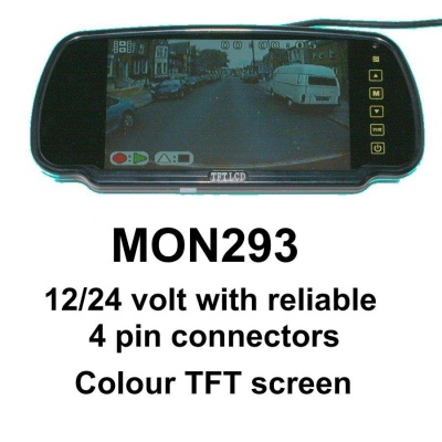 Rear view mirror monitor with bracket
