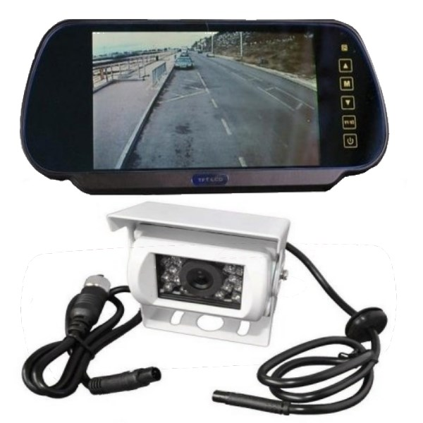 Rear View Camera System >> 7 Inch Mirror Mount Monitor And Reversing Camera System For Motorhomes