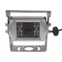 Silver CCD bracket camera with stainless steel bracket