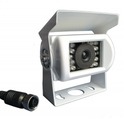 White narrow angle CCD bracket reversing camera
