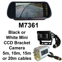 7 inch mirror monitor monitor and small CCD reversing camera