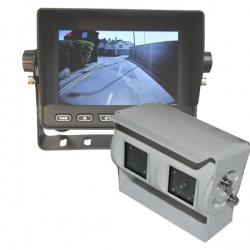5 inch stand on dash monitor and twin lens reversing camera