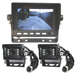 5 inch stand on dash monitor and two small CCD bracket reversing cameras