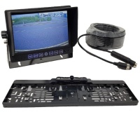 7 inch dash monitor and CCD number plate frame reversing camera