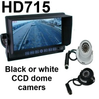 7 inch stand on dash monitor and CCD dome reversing camera
