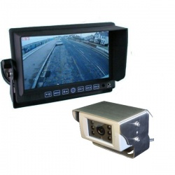 7 inch stand on dash monitor and 700 TVL reversingcamera polished stainless steel