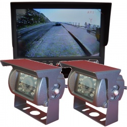 Heavy duty 7 inch CCD reversing camera system with 2 cameras