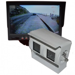 7 inch colour dash monitor and twin lens reversing camera