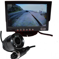 7 ich colour dash monitor and CCD bullet reversing camera