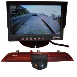 Stand on dash monitor and Ford Transit brake light camera
