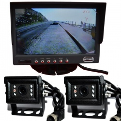 7 inch stand on dash monitor and two small CCD bracket reversing cameras