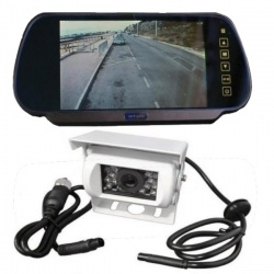 7 inch mirror mount monitor and reversing camera system for motorhomes