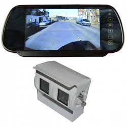 7 inch mirror monitor monitor and twin lens reversing camera