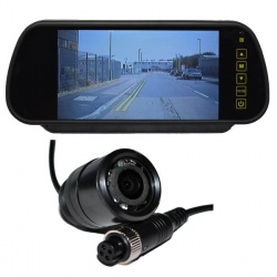 7 inch mirror monitor monitor and CCD bullet reversing camera