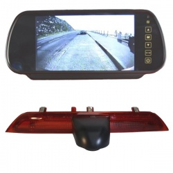 7 inch mirror rear view monitor monitor and  Ford Transit brake light reversing  camera
