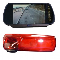 7 inch mirror monitor monitor and Vauxhall Vivaro 700TVL brake light reversing camera