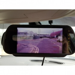 AHD twin lens reversing camera and mirror rear view monitor